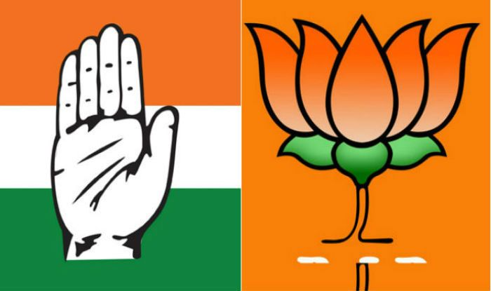 Congress and BJP party symbols