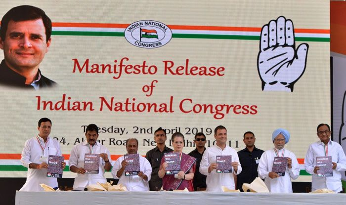 Congress leaders at manifesto release