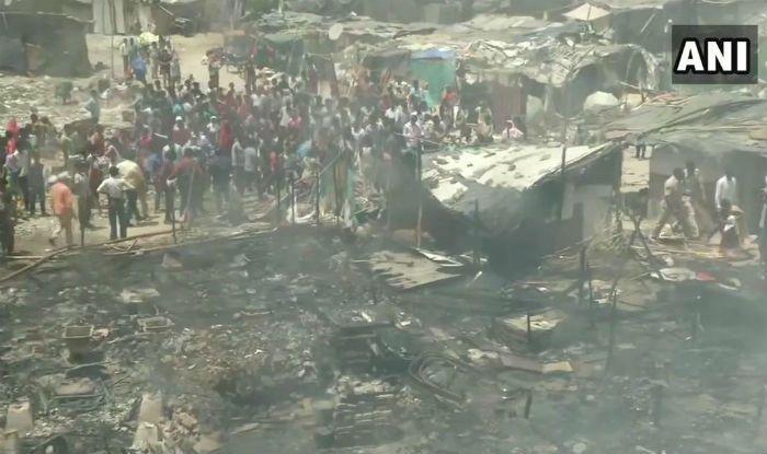 Fire Breaks Out at Slum Near Lalita Park in Delhi; No Casualties Reported