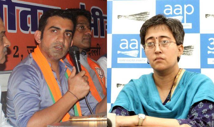 Gautam Gambhir and Atishi