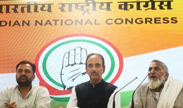 Naseem Ahmed, Mohammad Illyas and Ghulam Nabi Azad