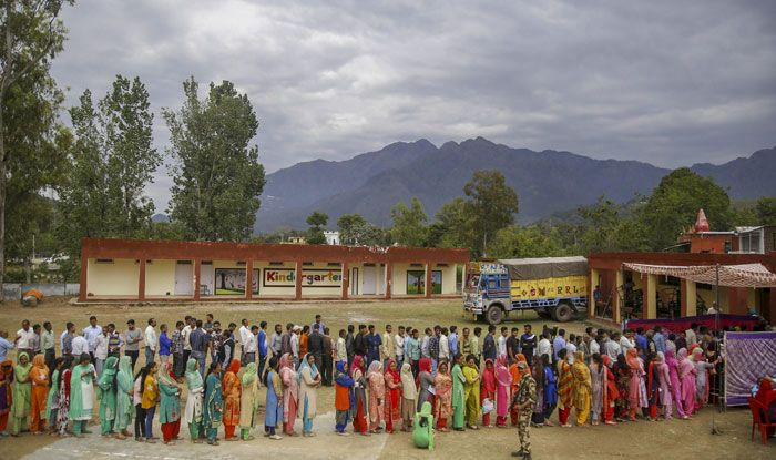Polling in Jammu and Kashmir