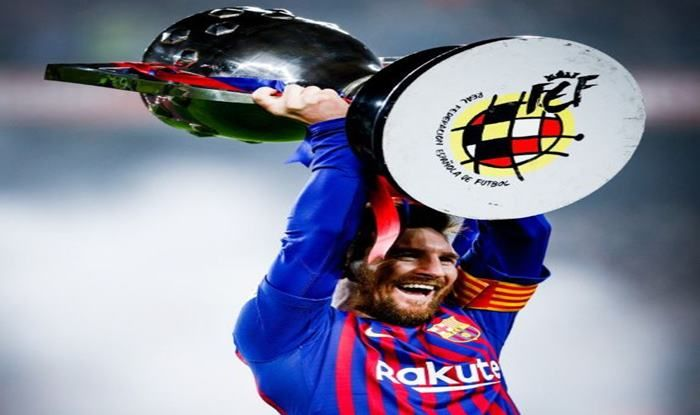 Lionel Messi Lifth his 10th career La Liga title_Picture credits-Twitter