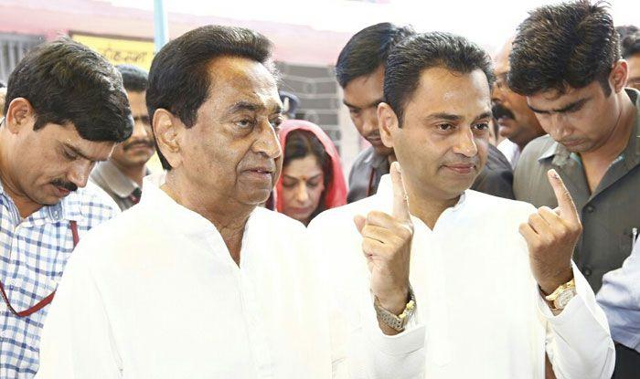 Madhya Pradesh CM Kamal Nath and his son Nakul Nath