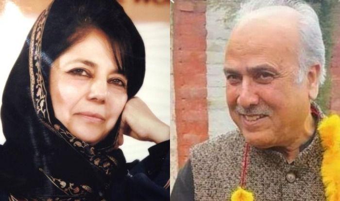 Mehbooba Mufti and Hasnain Masoodi