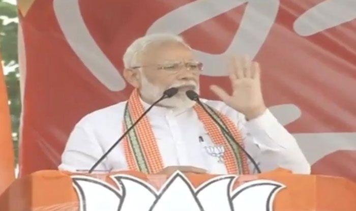 Prime Minister Narendra Modi in Barrackpore