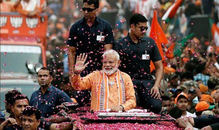 PM Narendra Modi's roadshow in Varanasi