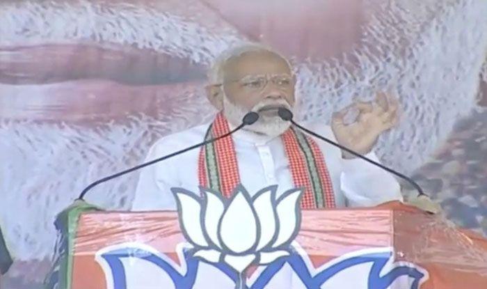 Prime Minister Narendra Modi in Sreerampur