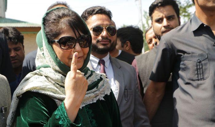 Mehbooba Mufti casts her vote in Anantnag
