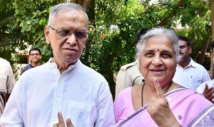 Infosys Founder NR Narayana Murthy and his wife Sudha Murthy