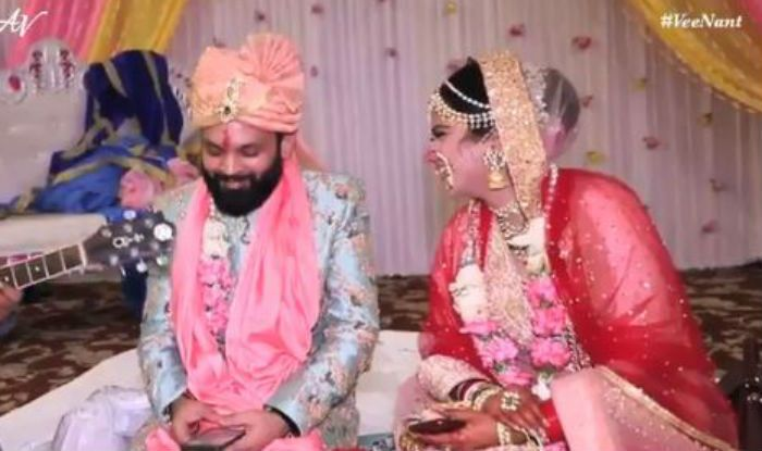 Newlywed couple Anant and Veena