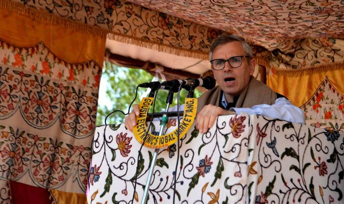 National Conference leader Omar Abdullah in Anantnag