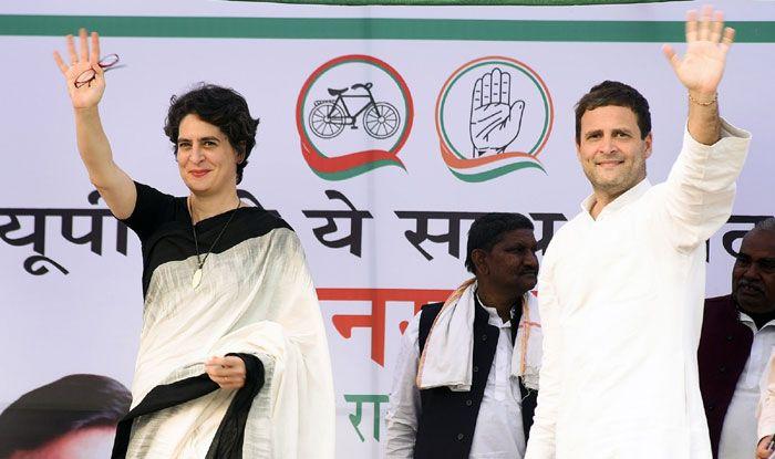 Congress' Priyanka and Rahul Gandhi