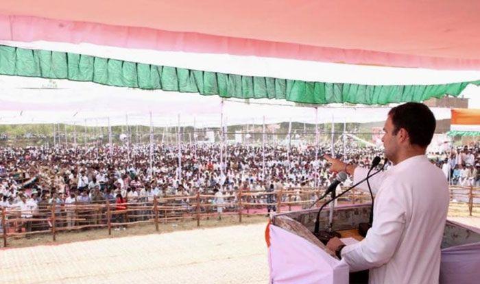 Congress president Rahul Gandhi in Budaun