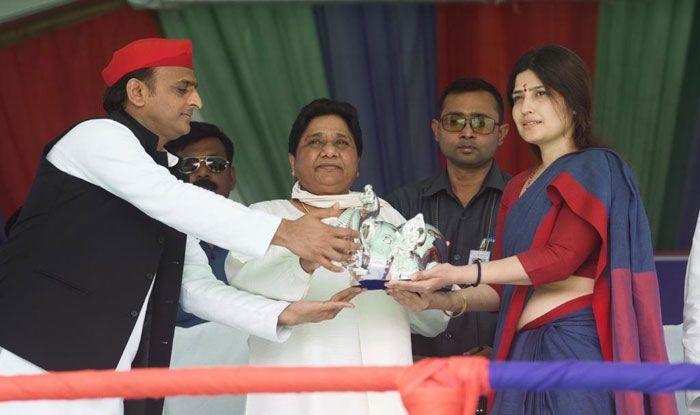 Akhilesh Yadav, Mayawati and Dimple Yadav in Kannauj