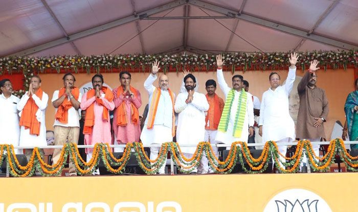 BJP president Amit Shah in Odisha