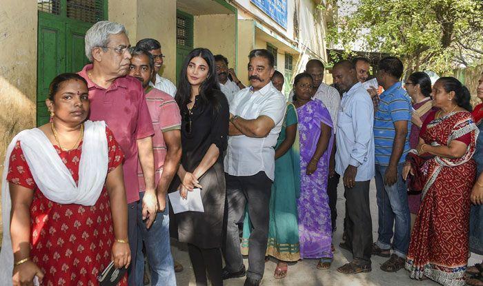 Polling in Tamil Nadu