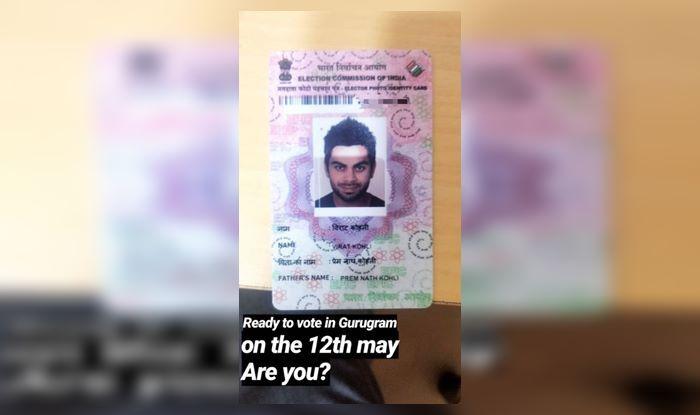 Virat Kohli to vote on 12th May_picture Virat Kohli official Instagram