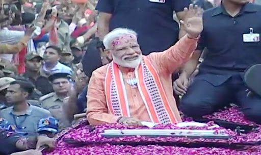 Watch: PM Modi's Roadshow in Varanasi Ahead of Nomination