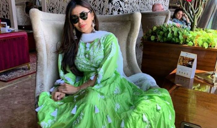 Mouni Roy Welcomes Summers in Style in This Parrot Green Embroidered Suit, Looks Hot