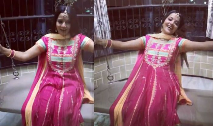 Bhojpuri Bomb Monalisa's Nazar Completes 200 Episodes, Actor Swings With Happiness- Watch