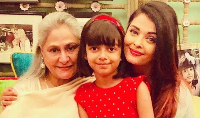 Aishwarya Rai Bachchan, Jaya Bachchan and Aaradhya Rai Bachchan