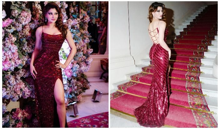 Urvashi Rautela Looks Drop-Dead Gorgeous as She Dazzles in Bling Wine Gown And Fans Can't Keep Calm!