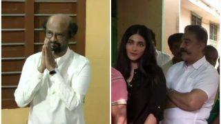 सुपरस्टार रजनीकांत ने चेन्नई सेंट्रल में डाला वोट, बेटी श्रुति संग मतदान करने पहुंचे कमल हासन