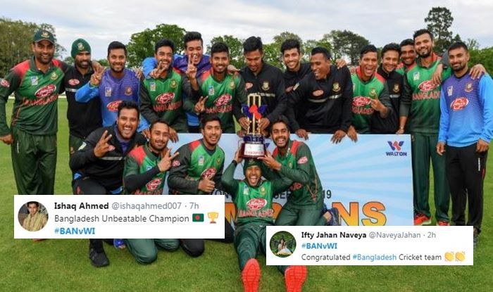 Bangladesh Beat West Indies to Clinch Maiden Multi-Nation ODI Trophy, Twitter Lavishes Praise   SEE POSTS