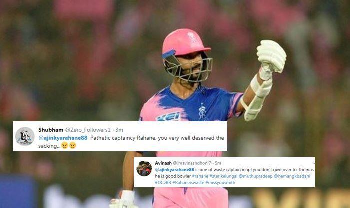 Ajinkya Rahane DC vs RR IPL 2019