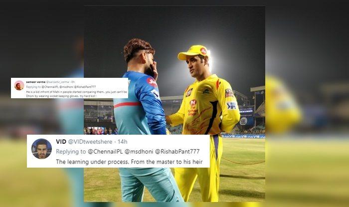 Rishabh Pant MS Dhoni CSK vs DC IPL 2019