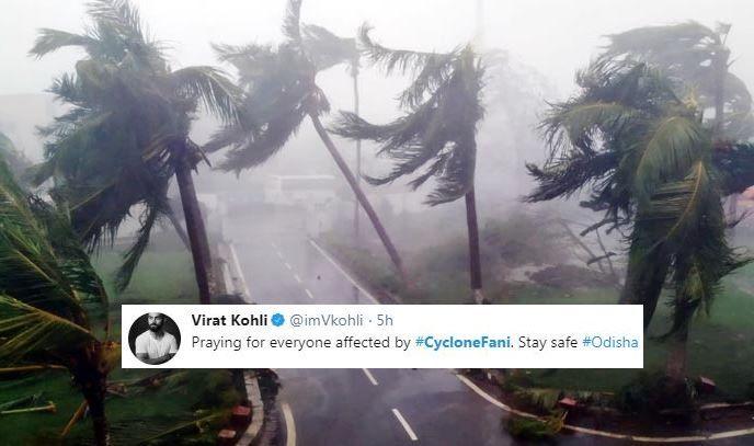 Cyclone Fani Virat Kohli Virender Sehwag