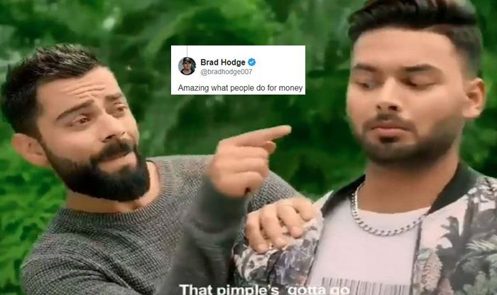 Virat Kohli-Rishabh Pant ad Controversy: Brad Hodge TROLLS Indian Skipper, Says 'Amazing What People do for Money' | SEE POST