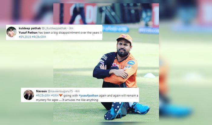 Yusuf Pathan RCB vs SRH IPL 2019