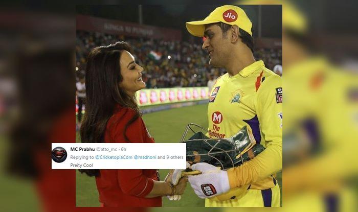 MS Dhoni Preity Zinta IPL 2019 (Courtesy: Cricketopia)