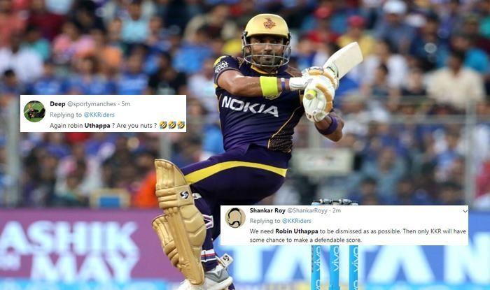 Robin Uthappa MI vs KKR IPL 2019