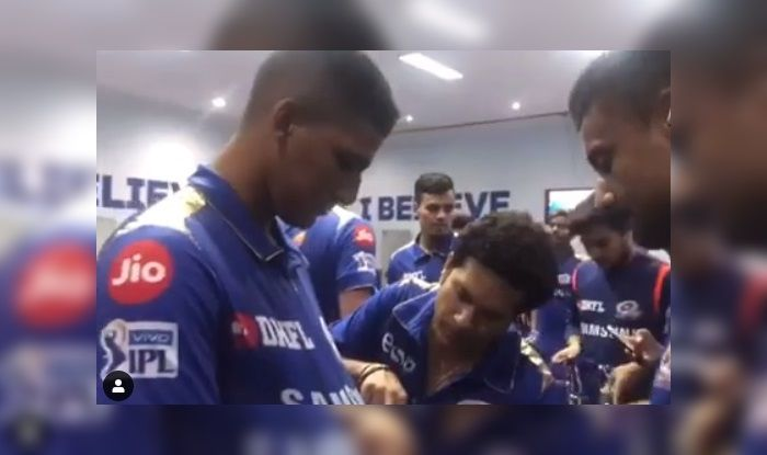 Sachin Tendulkar MI v CSK IPL 2019