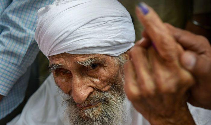New Delhi's oldest voter Bachan Singh