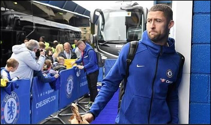 Chelsea Captain Gary Cahill Lashed out at coach Maurizio Sarri_Picture credits-Twitter