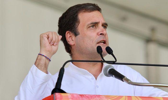 Congress president Rahul Gandhi in Una