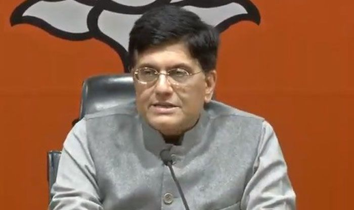 Minister of Railways Piyush Goyal. Photo Courtesy: IANS