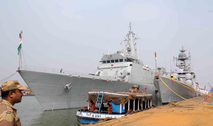 Warships INS Khukri and INS Sumitra
