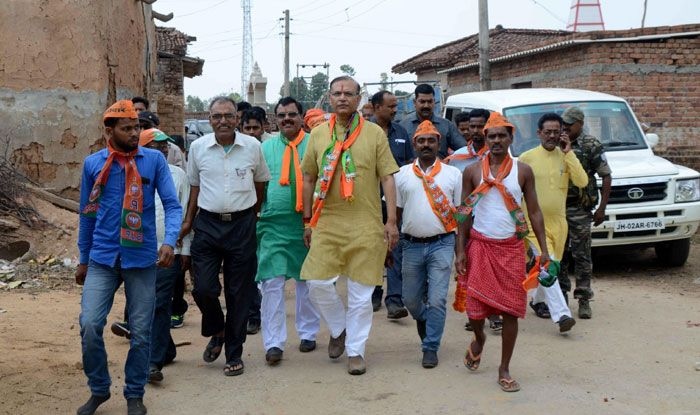 Jayant Sinha during an election campaign