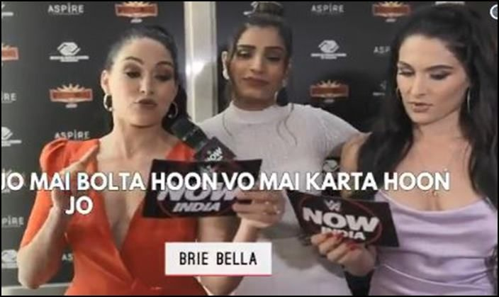 WWE Superstars attempt bollywood dialogues-picture credits-WWE video screenshot