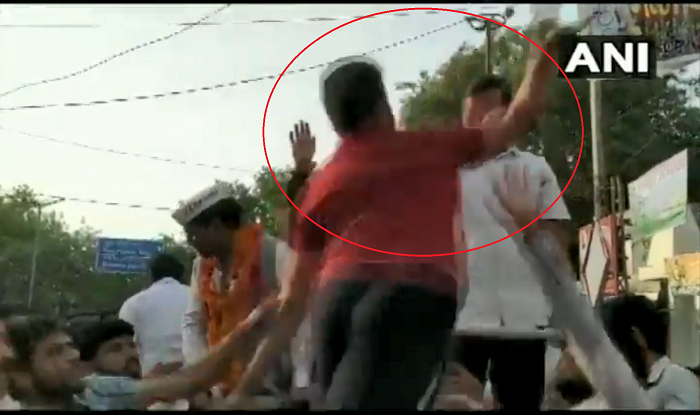 Man Slaps Delhi Chief Minister Arvind Kejriwal During Roadshow