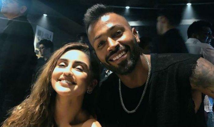 Krystal D'souza with Hardik Pandya