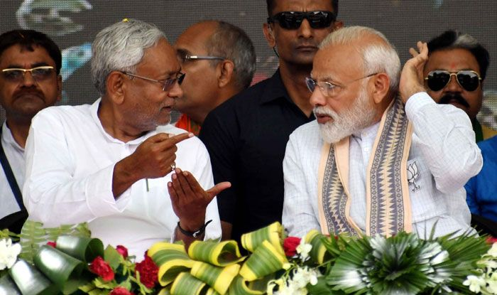 Bihar CM Nitish Kumar with PM Narendra Modi