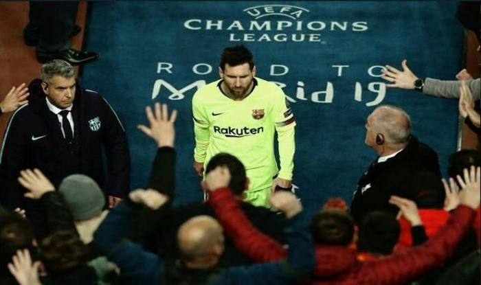 Lionel Messi after match against Liverpool_picture credits-Twitter