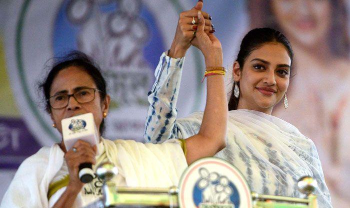 Mamata Banerjee with Nusrat Jahan