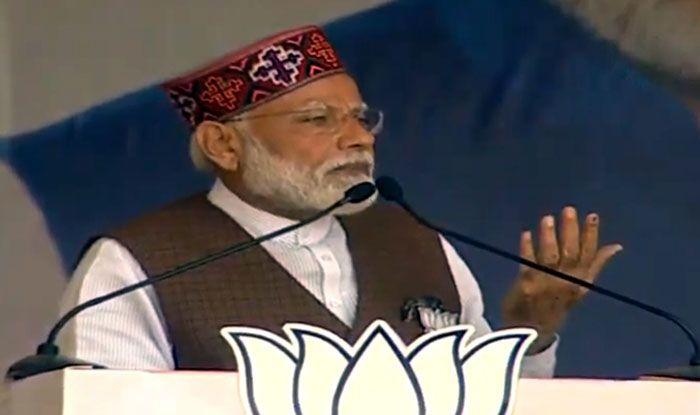 Prime Minister Narendra Modi in Mandi
